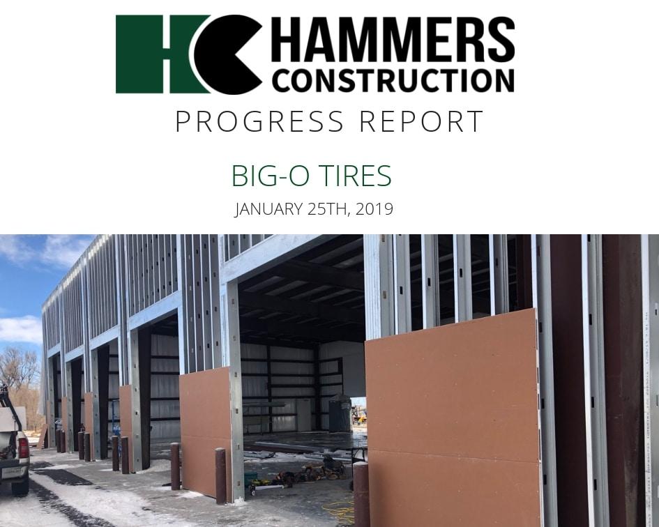 Big O tires Progress Report