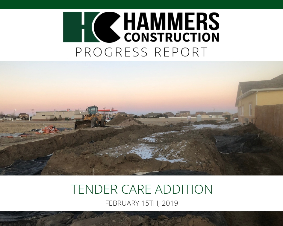 Hammers Construction Commercial Construction Weekly Progress Report.